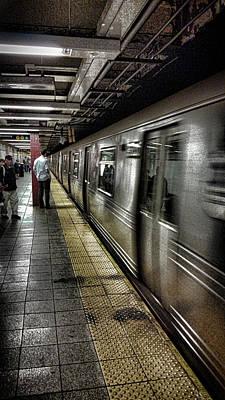Train Photograph - Nyc Subway by Martin Newman