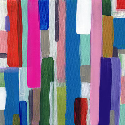 Nyhaven 2- Abstract Painting Print by Linda Woods