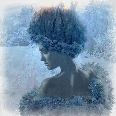 Winter Digital Art - Nymph Of January by Lilia D