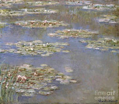 Water Reflections Painting - Nympheas by Claude Monet