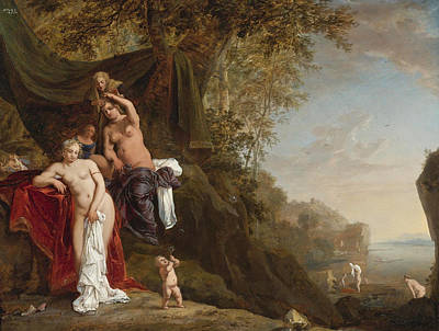 Bartholomeus Breenbergh Painting - Nymphs Bathing by Bartholomeus Breenbergh
