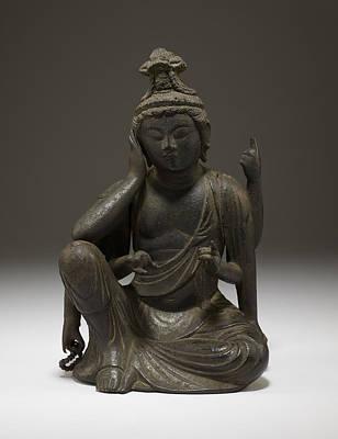 Bodhisattva Sculpture - Nyoirin Kannon  by Japanese School