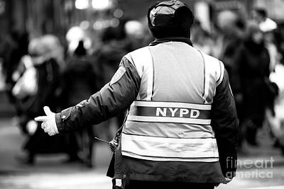 Photograph - Nypd Directions by John Rizzuto