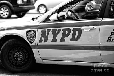 New York Cops Photograph - Nypd by John Rizzuto