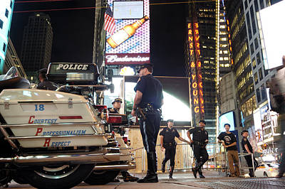 New York Cops Photograph - Nypd Times Square by Robert Lacy