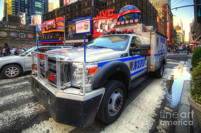 Nypd Photograph - Nypd Truck by Yhun Suarez
