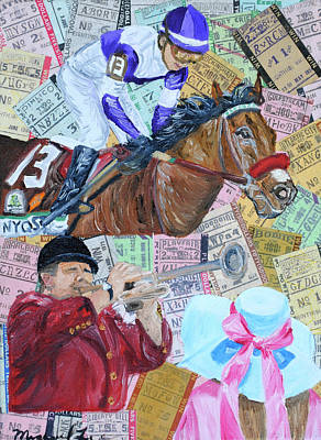 Kentucky Derby Mixed Media - Nyqst 2016 Kentucky Derby by Michael Lee