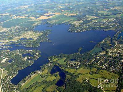 O-007 Okauchee Lake Waukesha County Wisconsin Print by Bill Lang