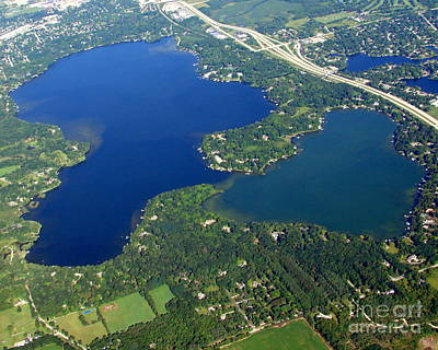O-008 Oconomowoc Lake Waukesha County Wisconsin Print by Bill Lang