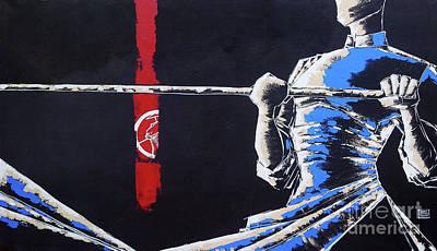 O Bastoneiro Do Junco Vermelho The Red Junk Boatman Original by Brasil Goulart