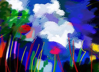 Mountain Drawing - O Ceo Azul  by Paul Sutcliffe