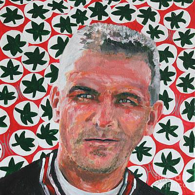 O H  Urban Meyer Portrait Original by Robert Yaeger