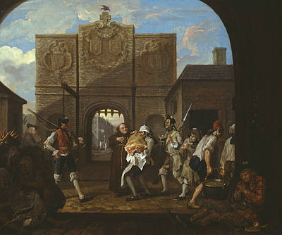 O The Roast Beef Of Old England Print by William Hogarth