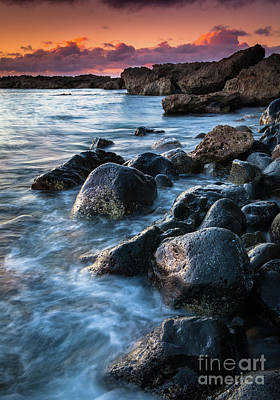 Oahu Boulders Print by Inge Johnsson