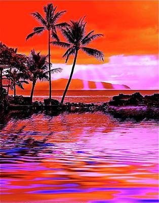 Fantasy Tree Art Painting - Oahu Island by Monique Wegmueller