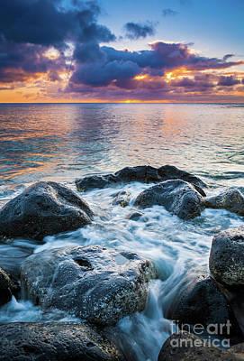 Ecological Photograph - Oahu Shoreline by Inge Johnsson