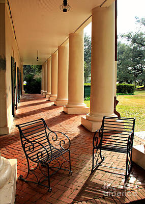 Oak Alley Porch Print by Perry Webster