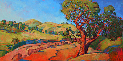 Seem Painting - Oak In The Wash by Erin Hanson