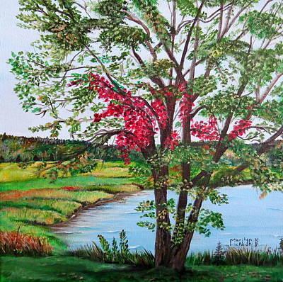 Oak Tree Standing Print by Marilyn McNish