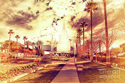 Oakland California Temple The Church Of Jesus Christ Of Latter D Print by Wingsdomain Art and Photography