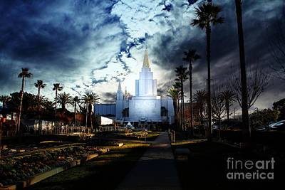 Oakland California Temple . The Church Of Jesus Christ Of Latter-day Saints Print by Wingsdomain Art and Photography