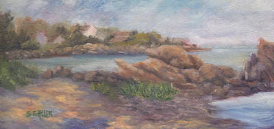 Perkins Cove Painting - Oarweed Cove by Sharon E Allen