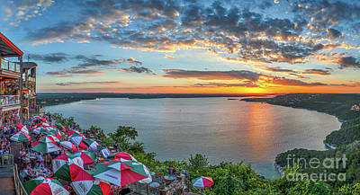 Landscape Photograph - Oasis Sunset Pano by Tod and Cynthia Grubbs