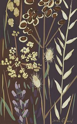 Oats And Seed Pods Print by Sarah Gillard