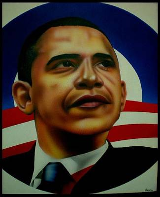 44th Painting - Obama by Brett Sauce