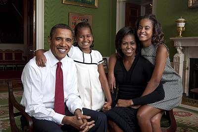 Daughters Photograph - Obama Family Official Portrait By Annie by Everett