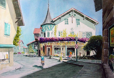 Oberammergau Street Print by Sam Sidders
