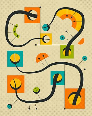 Modern Abstract Art Digital Art - Objectified 17 by Jazzberry Blue