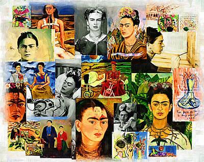 Kahlo Mixed Media - Obsessed With Frida Kahlo by Madalena Lobao-Tello