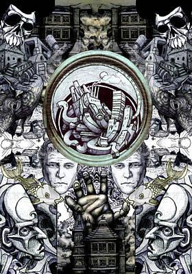 Heath Ledger Drawing - Obsessive Compulsion by John Baker