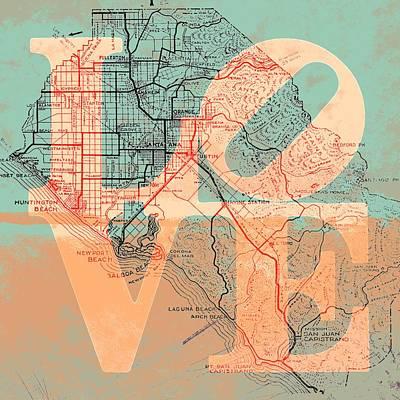Laguna Beach Mixed Media - Oc Love V1 by Brandi Fitzgerald