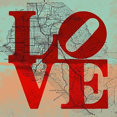 Laguna Beach Mixed Media - Oc Love V2 by Brandi Fitzgerald