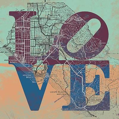 Laguna Beach Mixed Media - Oc Love V3 by Brandi Fitzgerald