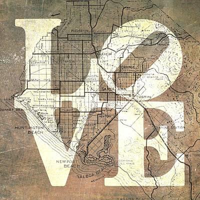 Laguna Beach Mixed Media - Oc Love V4 by Brandi Fitzgerald