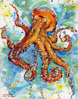Sealife Painting - Occy by Arleana Holtzmann