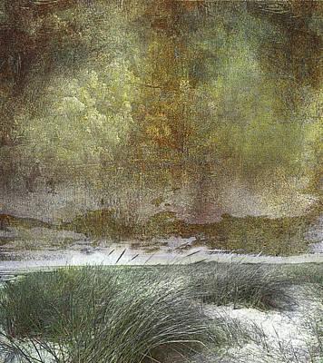 Abstract Realism Digital Art - Ocean Beach - Number 1 by Jeff Burgess