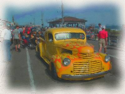 Ocean City Hot Rod Print by Kevin  Sherf