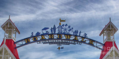 Beach Photograph - Ocean City Maryland Boardwalk by Tom Gari Gallery-Three-Photography