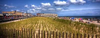 Ocean City Panorama Print by John Loreaux