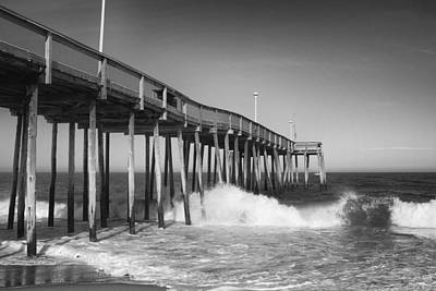 Ocean City Pier Print by Stephanie McDowell
