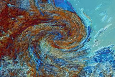 Energy Art Movement Digital Art - Ocean Colors by Linda Sannuti