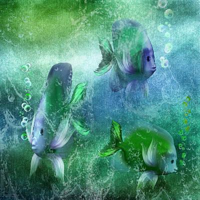 Ocean Fantasy 4 Print by Carol Cavalaris