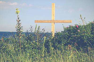 Spiritual Photograph - Ocean Grove Cross by Eleanor Abramson