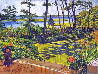 Ocean Lagoon Garden Original by David Lloyd Glover