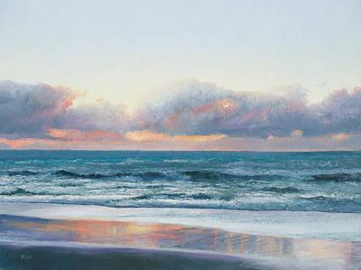 Ocean Painting - Days End Original by Jan Matson