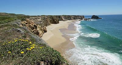 Panther Photograph - Ocean Panorama - Santa Cruz - California by Brendan Reals